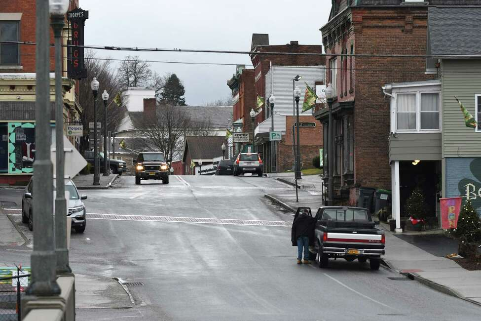 Church St. at John St. in the center of town on Wednesday, Jan. 4, 2017, in Hoosick Falls, N.Y. (Will Waldron/Times Union)