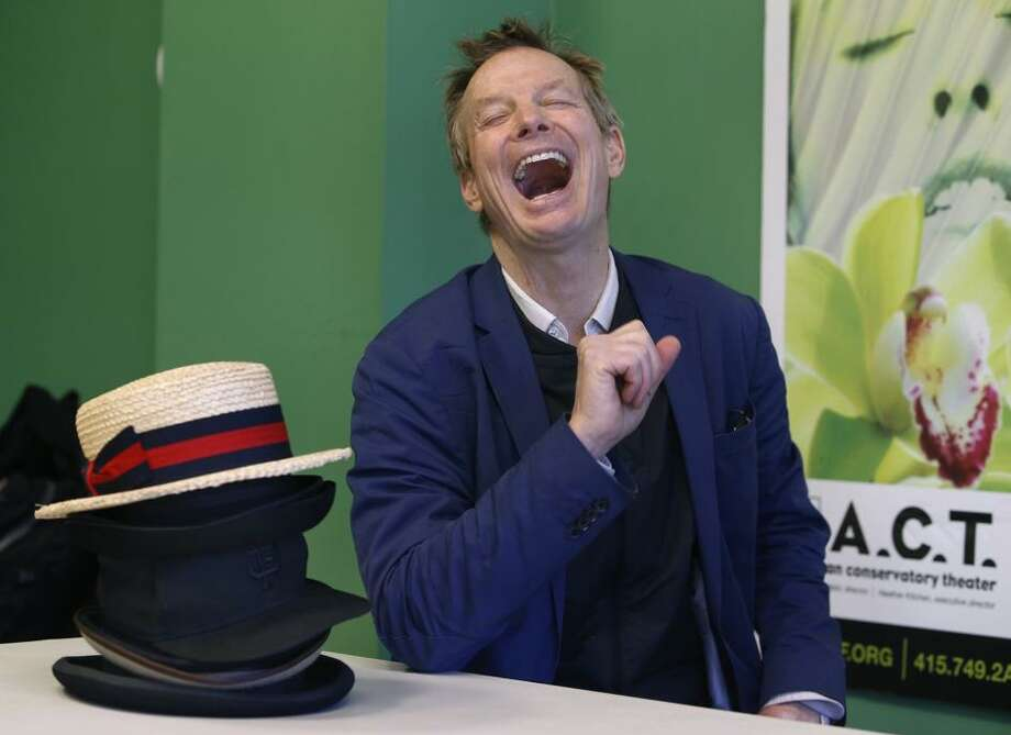 """Actor and clown Bill Irwin visits the ACT rehearsal studio before the run of his solo show, """"On Beckett."""" / ONLINE_YES"""