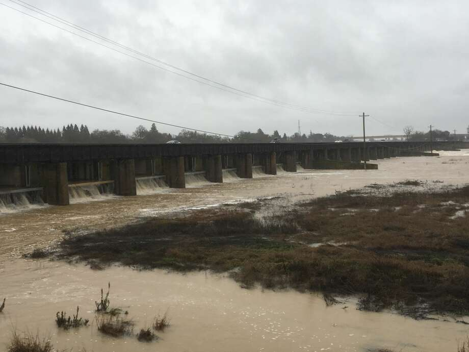 A flooded Yolo Bypass on Tuesday, Jan. 10, 2017 Photo: Courtesy Department Of Water Resources