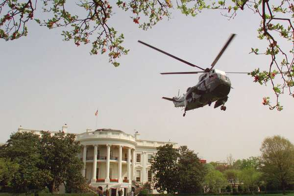 Leave the White House in a helicopter   