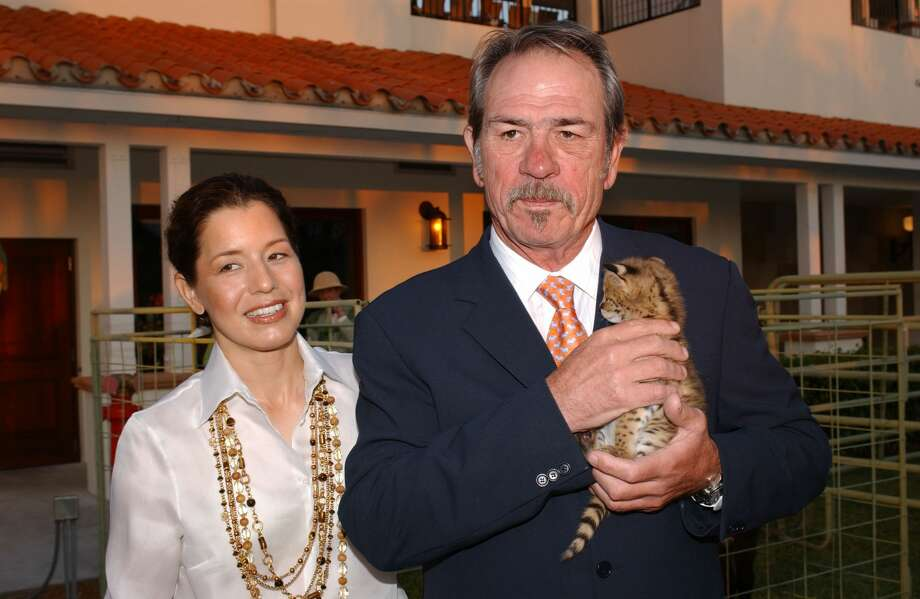 WELLINGTON, FL - APRIL 9:  Actor Tommy Lee Jones and wife Dawn pose at the International Polo Club Palm Beach where he attended the Safari Adventure and Celebrity Polo Match to BenefitThe Buoniconti Fund to Cure Paralysis, on April 9, 2005 in Wellington, Florida.  (Photo by Byron Saunders/Getty Images) Photo: Byron Saunders/Getty Images