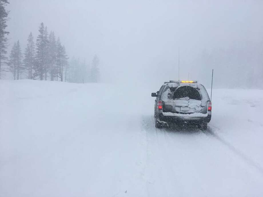 CHP Truckee published this photo or road conditions Tuesday as the area was under a blizzard warning. Photo: CHP Truckee