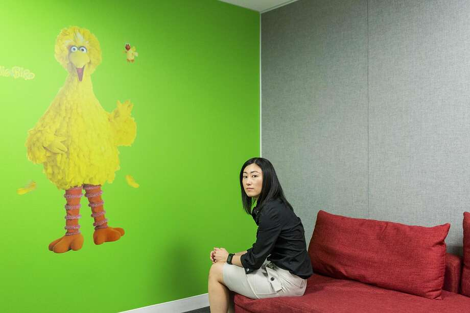 Nuna co-founder Jini Kim sits in the office that has a Sesame Street them because her autistic brother likes the show. Nuna has built a cloud-computing database of the nation's 74 million Medicaid patients and their treatment. Photo: JASON HENRY, NYT
