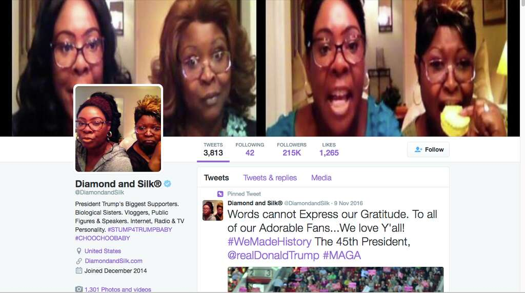 Pro Trump Commentators Lynnette Hardaway And Rochelle Richardson Better Known As Diamond Silk