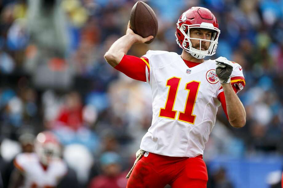 Kansas City quarterback Alex Smith has pedestrian numbers in the regular season, but his playoff stats rank with the best. Photo: Chris Keane, Associated Press