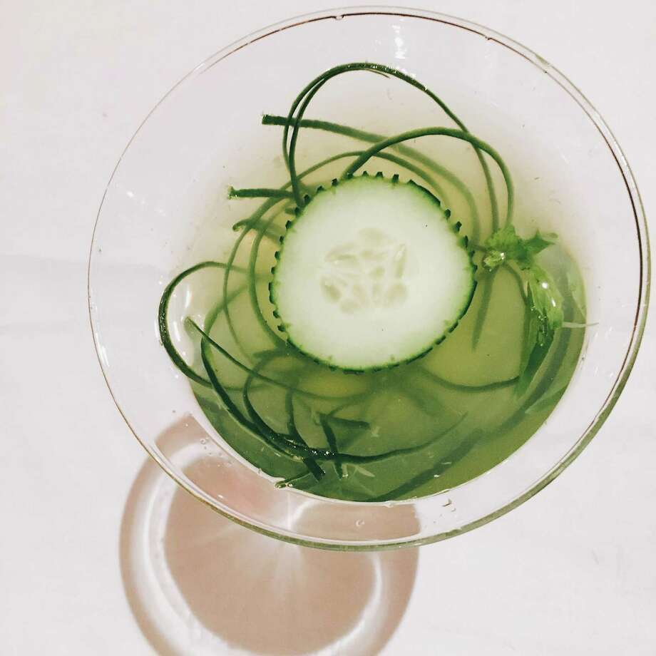 The cucumber martini at Bite restaurant adds muddled cucumber and basil simple syrup to vodka. Photo: Courtesy Bite Restaurant