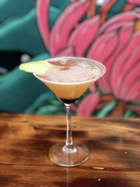 The bourbon-based Ginger Geisha cocktail includes grated ginger and is a top seller at Kimura. Photo: Courtesy Kimura / San Antonio Express-News