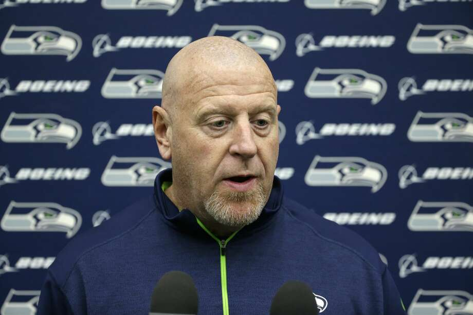 Tom Cable, Seattle Seahawks assistant head coach and offensive line coach, talks to reporters, Tuesday, Jan. 10, 2017, in Renton, Wash. The Seahawks will play the Atlanta Falcons in an NFL football NFC playoff game, Saturday, Jan. 14, 2017 in Atlanta (AP Photo/Ted S. Warren) Photo: Ted S. Warren/AP