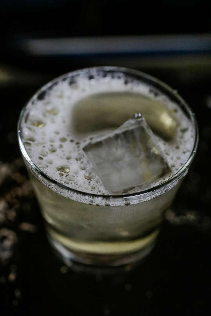 """The """"Sutton and Scotch"""" drink is seen at Sutton Cellars tasting room in the Dogpatch in San Francisco, Calif., on Monday, January 9, 2017."""
