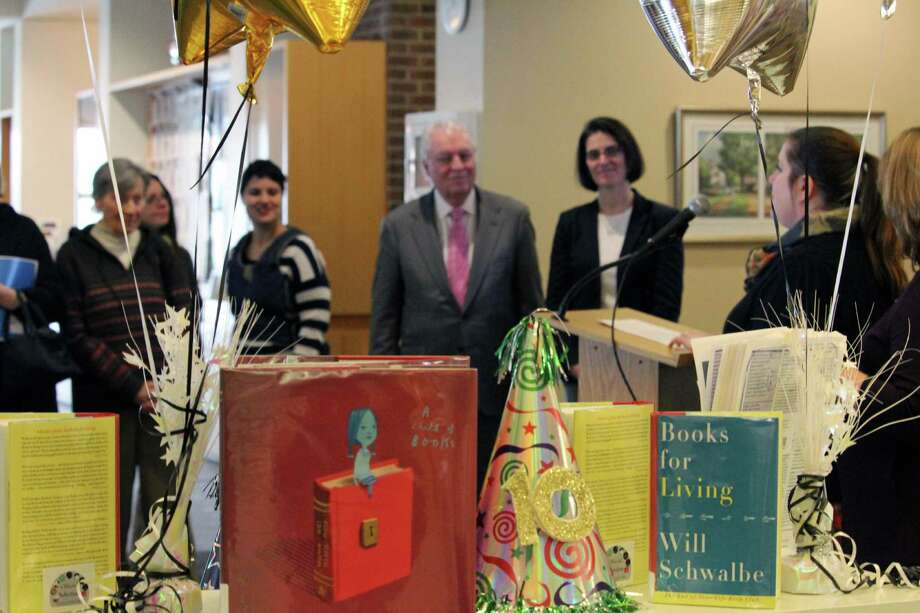 "for the 10th anniversary of ""One Book One Town,"" two books were selected -- ""Books for Living"" by Will Schwalbe and ""A Child of Books"" by Oliver Jeffers and Sam Winston. Fairfield,CT. 1/10/17 Photo: Genevieve Reilly / Hearst Connecticut Media / Fairfield Citizen"