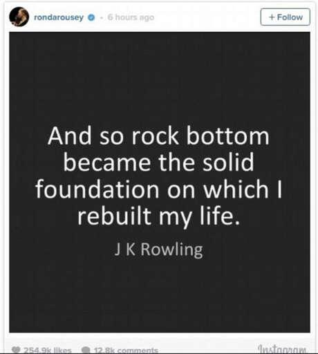 Photo: Instagram/Ronda Rousey