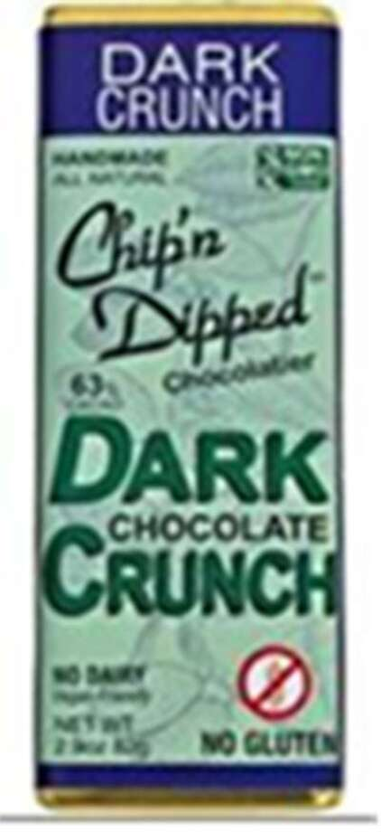 Chip'n Dipped of Huntington, NY, is recalling its 2.9-oz. bar, Dark Chocolate Crunch because it may contain undeclared milk. People who have allergies to milk run the risk of serious or life-threatening allergic reactions if they consume these products. Photo courtesy of the U.S. Food and Drug Administration. Photo: Contributed / Contributed