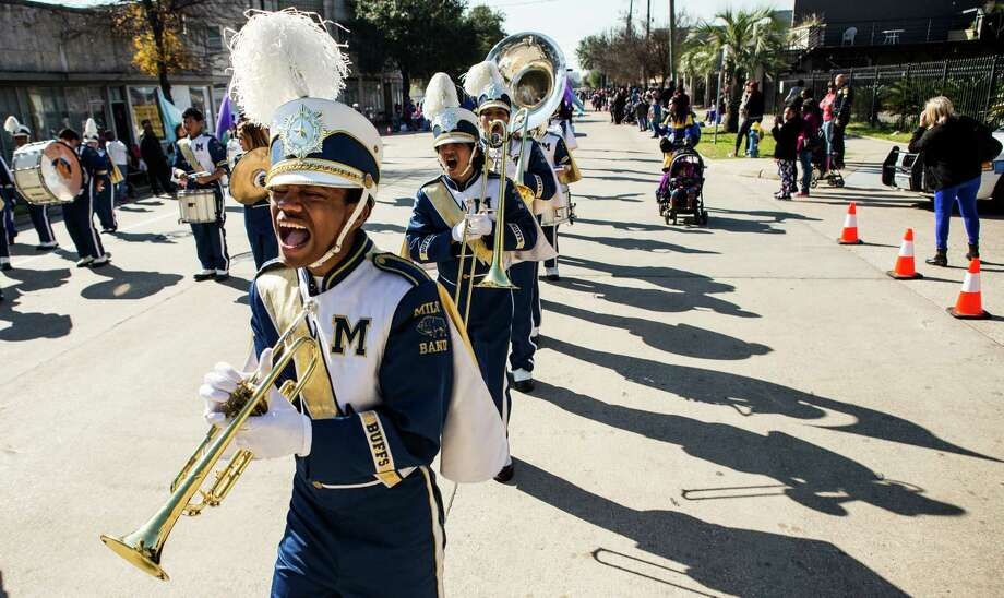 The Milby High School Band performs during the 22nd Annual MLK Grande Parade on Monday, Jan. 18, 2016, in Houston. ( Brett Coomer / Houston Chronicle ) Photo: Brett Coomer, Staff / © 2016 Houston Chronicle