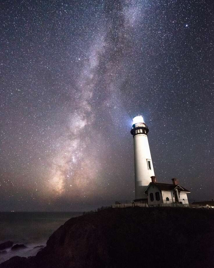 The Milky Way rising over Pigeon Point Lighthouse in Pescadero. Photo: Lisa Bao/Courtesy