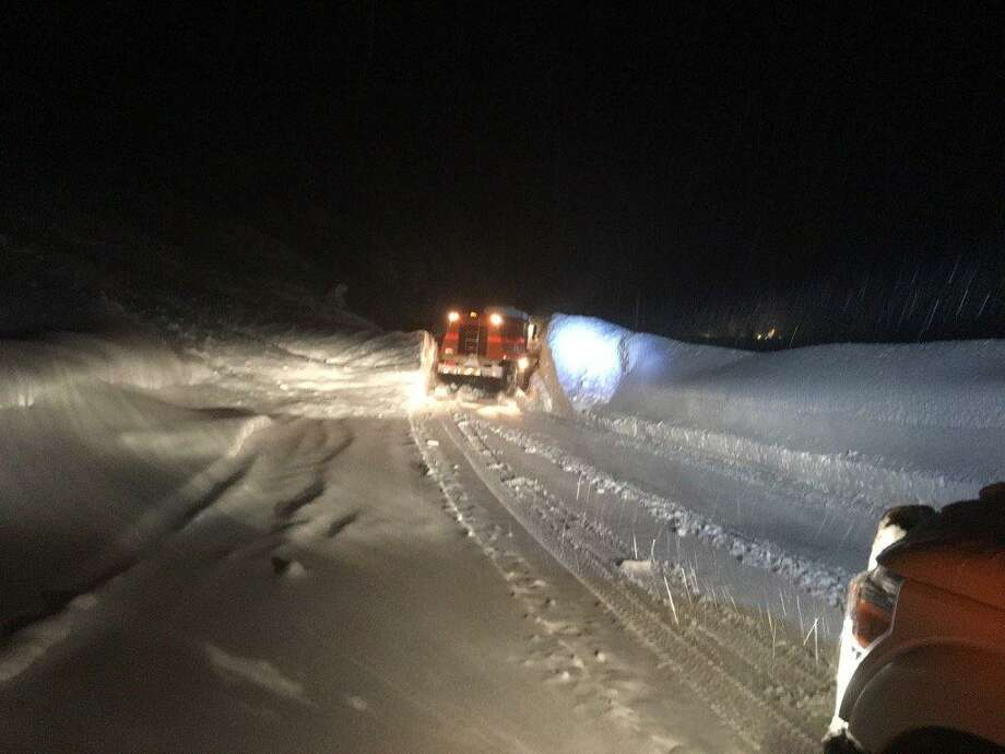 Caltrans reopened Highway 50 at Echo Summit after several feet of snow fell in the Sierra on Tuesday. Photo: Caltrans District 3 / /