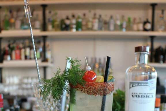 The Pearl cocktail at Supper uses a housemade clear tomato water to create a unique version of a bloody mary.