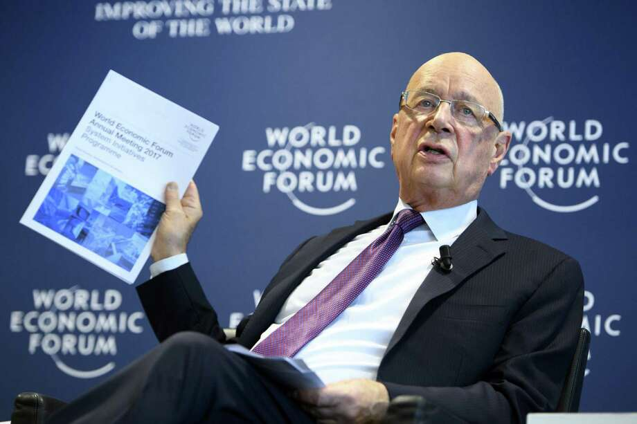 """German Klaus Schwab, founder and president of the World Economic Forum, WEF, holds a news conference, in Cologny near Geneva on Tuesday. In a wide-ranging report released Wednesday, the WEF identified """"rising income and wealth disparity"""" as potentially the biggest driver in global affairs over the next ten years. Photo: Laurent Gillieron /Associated Press / © KEYSTONE / LAURENT GILLIERON"""