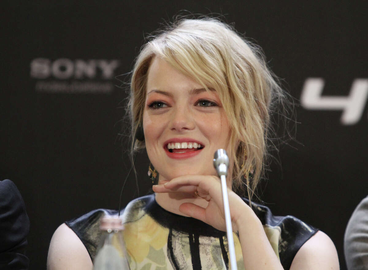 Emma Stone during a press conference Ritz Carlton hotel before 'The Amazing Spider-Man' premiere on June 15, 2012 in Moscow, Russia. (Photo by Gennadi Avramenko/Epsilon/Getty Images)