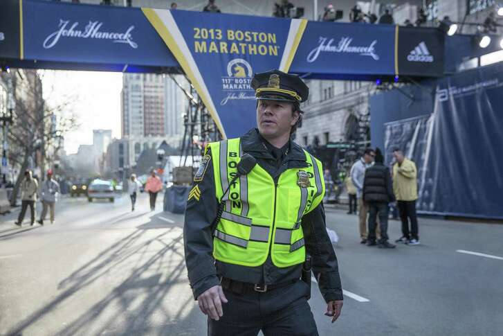 "Mark Whalberg plays a fictional cop whose always a the center of the action in ""Patriots Day."""