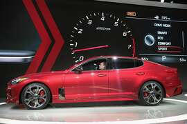 DETROIT, MI - JANUARY 09:  Kia Motors introduces the 2018 Stinger at the North American International Auto Show (NAIAS) on January 9, 2017 in Detroit, Michigan. The show is open to the public from January 14-22.  (Photo by Scott Olson/Getty Images)