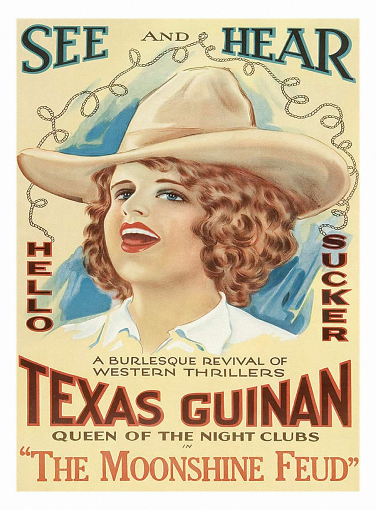 1920:  Texas Guinan Western on a poster that advertises the movie