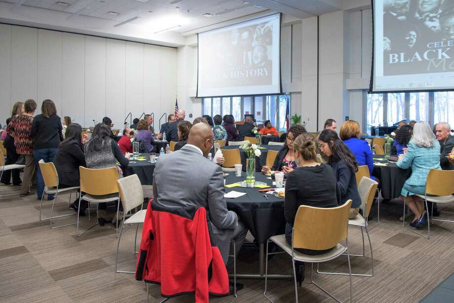Students, staff and community members enjoy a breakfast event held at LSC-Kingwood in celebration of Black History Month in 2016. LSC-Kingwood will hold free educational events during the month of February in observance of Black History Month. Photo: Courtesy Of Lone Star College-Kingwood