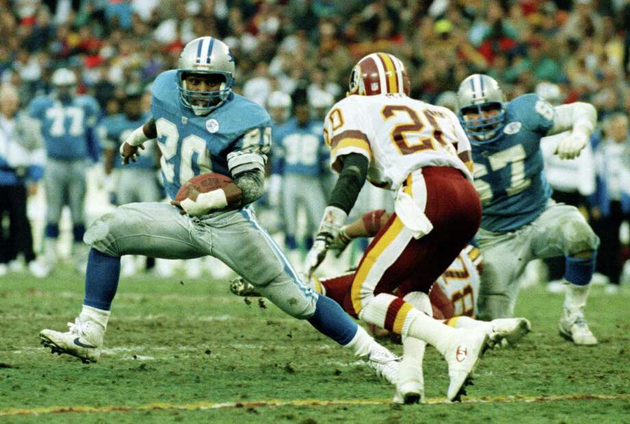 Barry Sanders' legendary run in Detroit left him as one of the NFL's best players never to appear in the Super Bowl. Photo: Doug Mills, Associated Press / AP