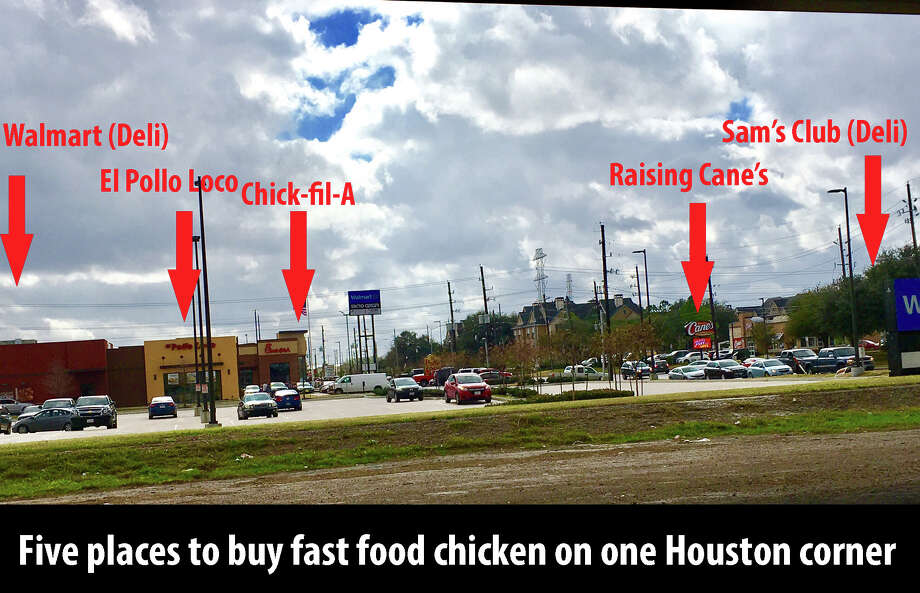 PHOTOS: Houston planning decisions that make you wonderThe intersection of Westpark and South Rice Ave. in Houston has five places to get chicken to go on one street corner.See more odd planning and zoning decisions that make Houston such a unique place ... Photo: John Boyd, Houston Chronicle