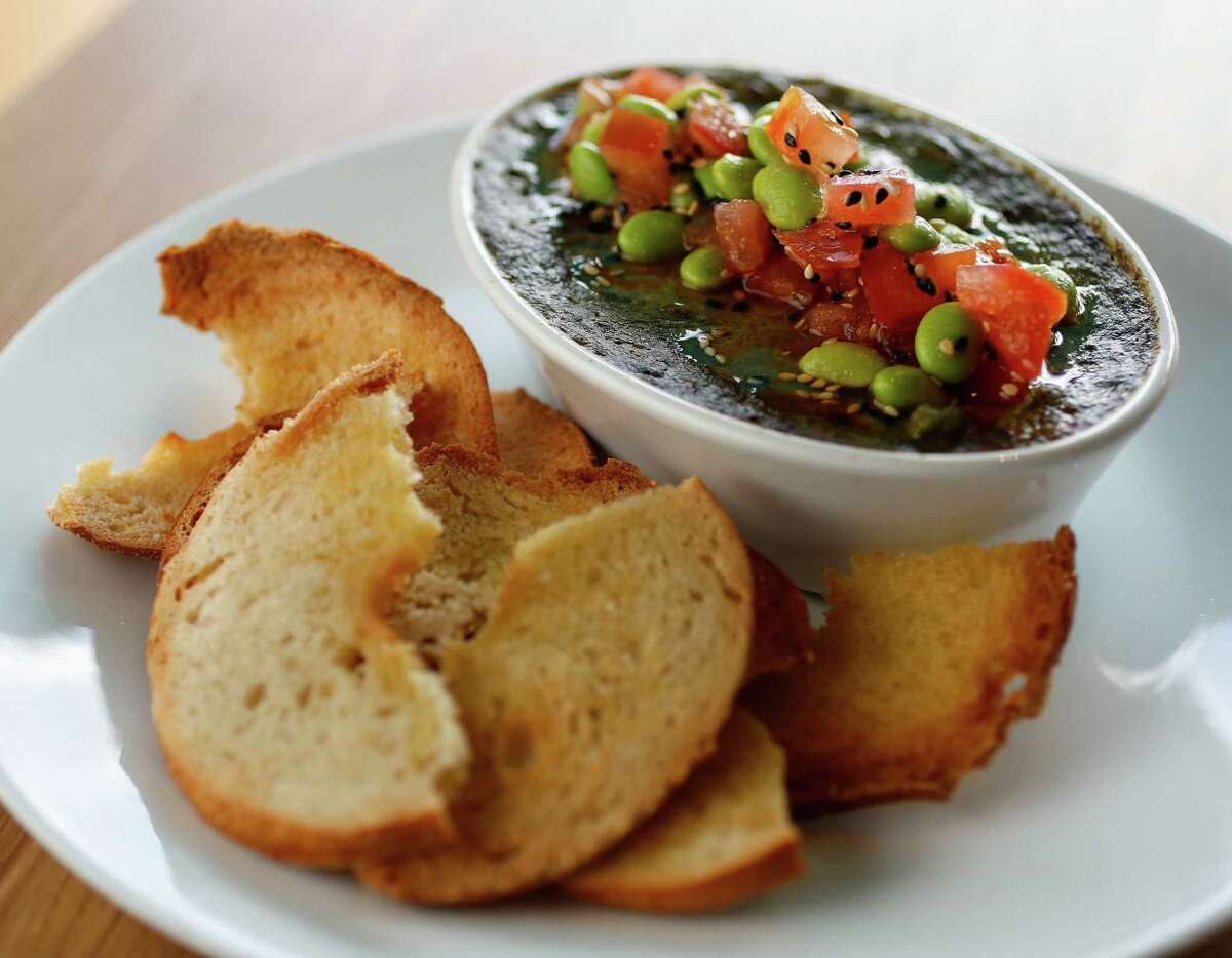 The Edamame Dip on the menu at Local Foods, the fresh food concept owned by Benjy Levit which is opening its fourth and probably grandest outpost on Jan. 12 downtown at Main and Prairie.