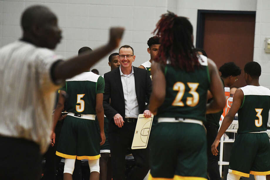 Klein Forest head coach Cary Black grinning at yet another big win for his Eagles squad. Klein Forest is now 21-0, 3-0 in district play and ranked as the best team in the state of Texas. Photo: Tony Gaines / HCN