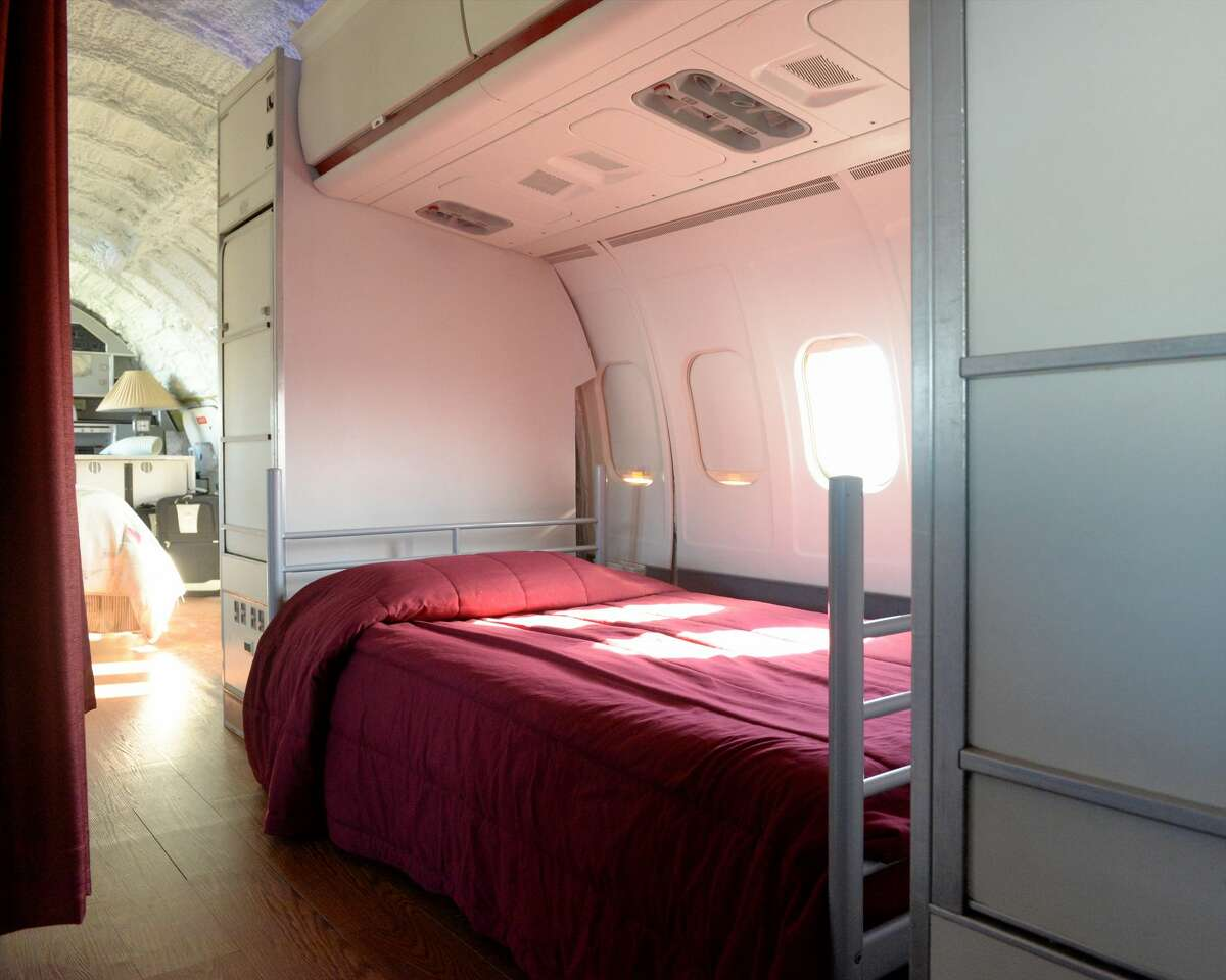 A bedroom area in the MD-80.