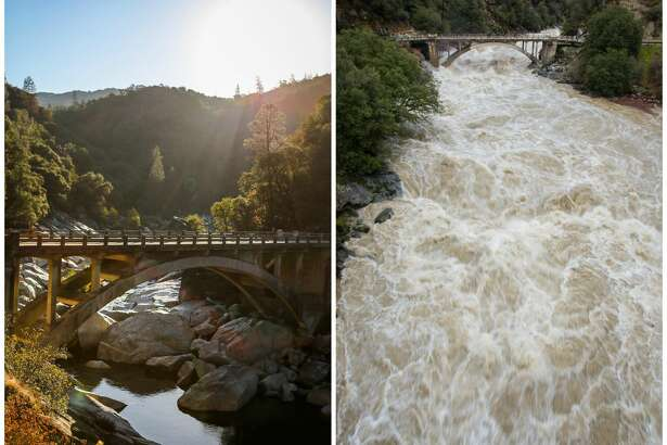 Yuba River: Before and after the January 2017 storm  