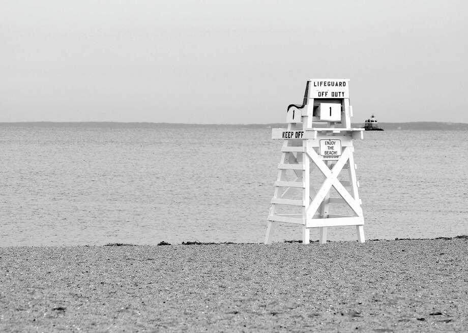 An off-season glimpse at Penfield Beach in Fairfield, Conn. on Jan. 5, 2017. Photo: Laura Weiss / Hearst Connecticut Media / Fairfield Citizen