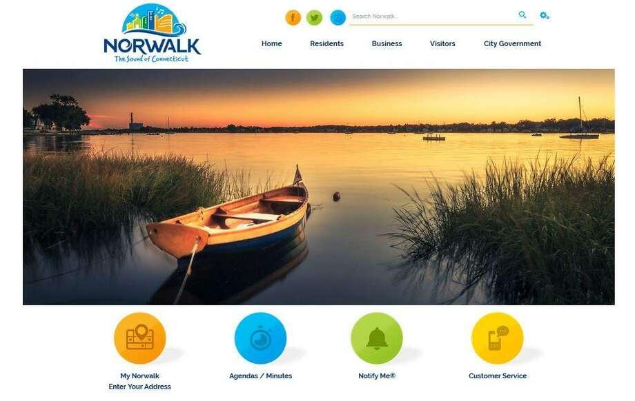 Norwalk's new city website. Photo: Screenshot Of Norwalkct.org