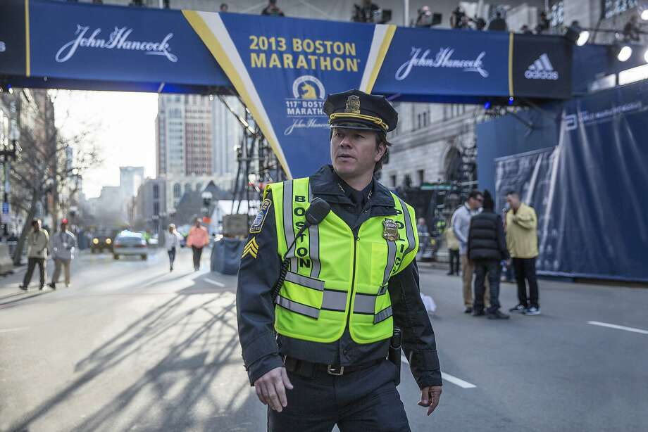 "Mark Wahlberg appears on the set of the film ""Patriots Day."" Photo: Karen Ballard, Associated Press"