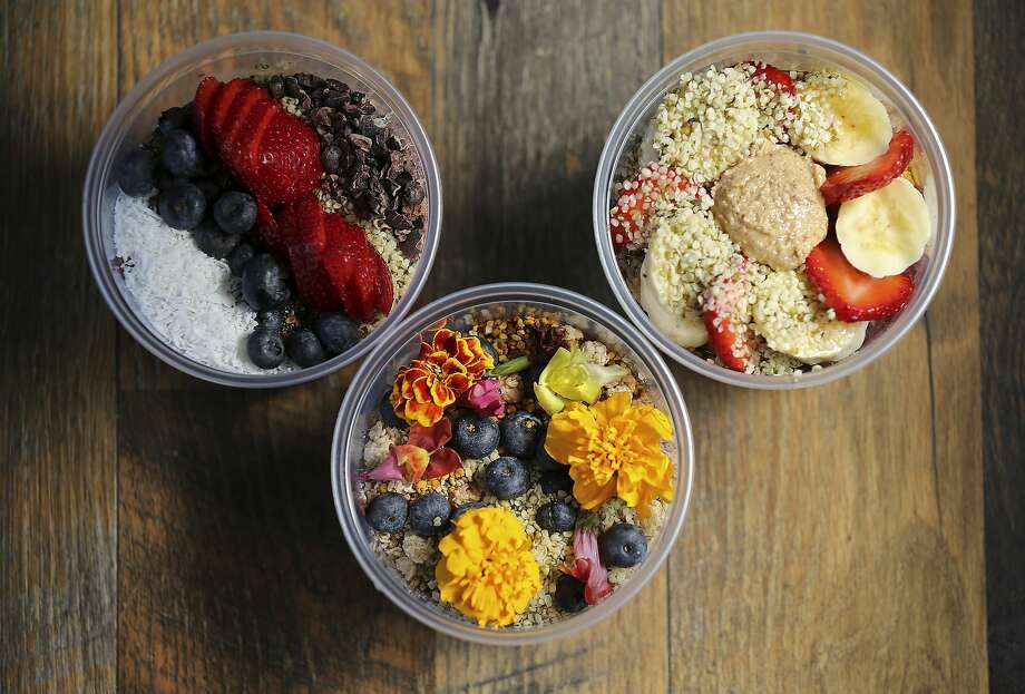 From buddha bowls to acai bowls to poke bowls, plain plates just don't seem to cut it anymore around the Bay. -KR Photo: Edward A. Ornelas, San Antonio Express-News