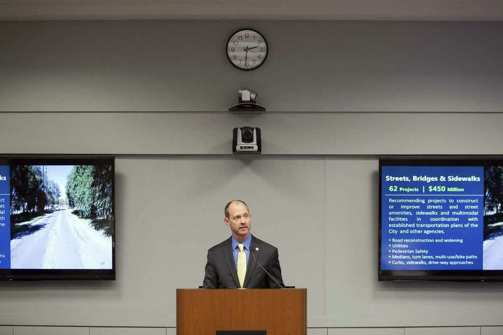 mike frisbie director of transportation and capital improvements department speaks on jan 11