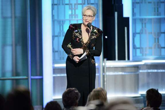 Meryl Streep accepts the Lifetime Achievement Award at the 74th Annual Golden Globe Awards at the Beverly Hotel on Sunday. She took the opportunity to criticize President-elect Donald Trump.