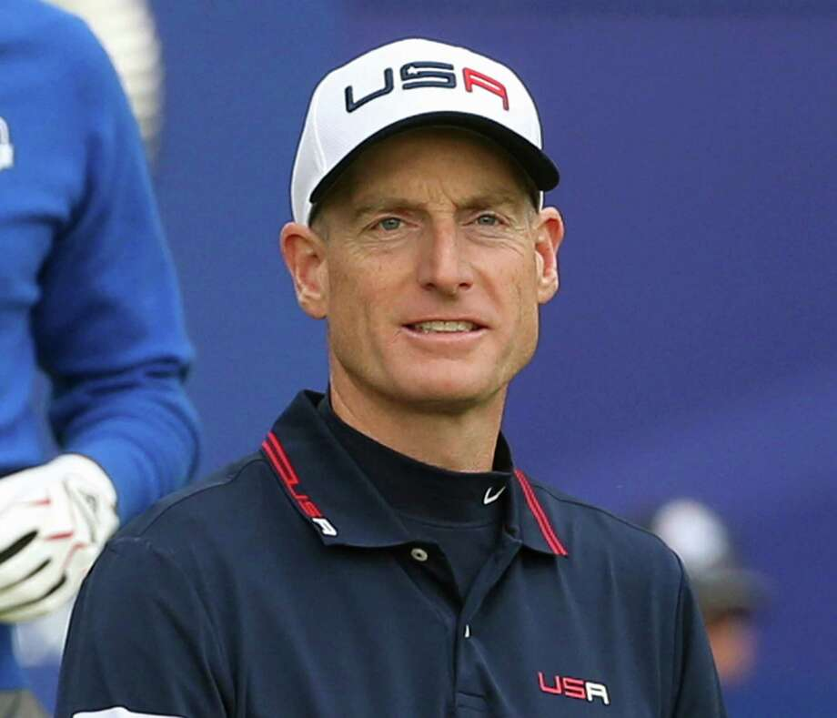 FILE - In this Sept. 28, 2014, file photo, Jim Furyk, of the United States, walks off the tee box after playing the first hole during a singles match on the final day of the Ryder Cup golf tournament, at Gleneagles, Scotland. Furyk has been appointed U.S. captain for the 2018 Ryder Cup in France. Furyk will be in charge of a team that will try to win on European soil for the first time since 1993 at The Belfry. (AP Photo/Scott Heppell, File) ORG XMIT: NY169 Photo: Scott Heppell / Copyright 2017 The Associated Press. All rights reserved.