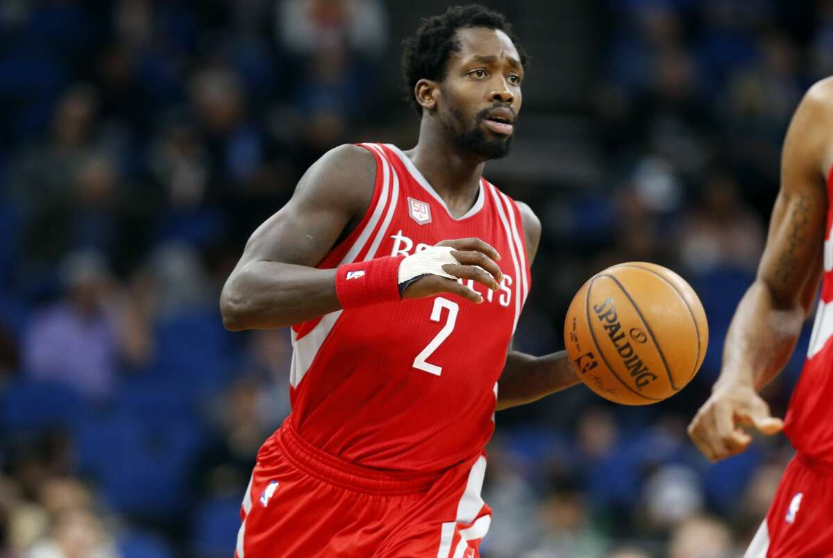 Houston Rockets' Patrick Beverley plays against the Minnesota Timberwolves during the first quarter of an NBA basketball game Wednesday, Jan. 11, 2017, in Minneapolis. (AP Photo/Jim Mone)