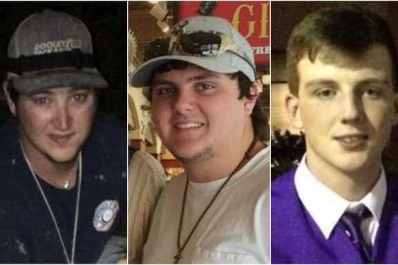 From left:Starett Burk, 25,Spencer Hall, 19, and Christian Ruckman, 18.
