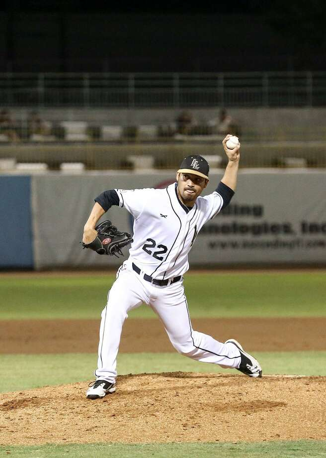 Lemurs reliever Luis Pollorena was traded to Sugar Land as the Laredoan gets to compete in a stronger league in 2017. Pollorena was 4-2 with a 2.82 ERA in 2016 for Laredo. Photo: Laredo Morning Times Staff File