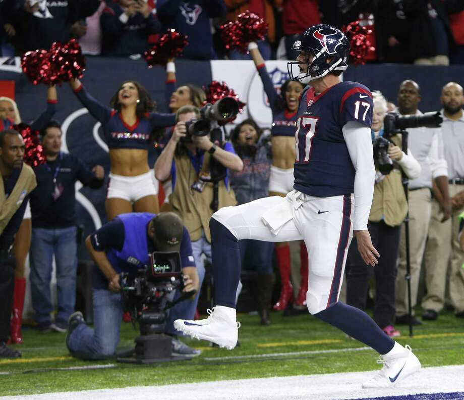 Houston quarterback Brock Osweiler saved his best performance of the year for the playoffs in a 27-14 victory over Oakland Saturday. With a formula similar to last season's Denver team, the Texans next face the top-seeded Patriots this weekend in New England. Photo: Brett Coomer /Houston Chronicle / © 2017 Houston Chronicle