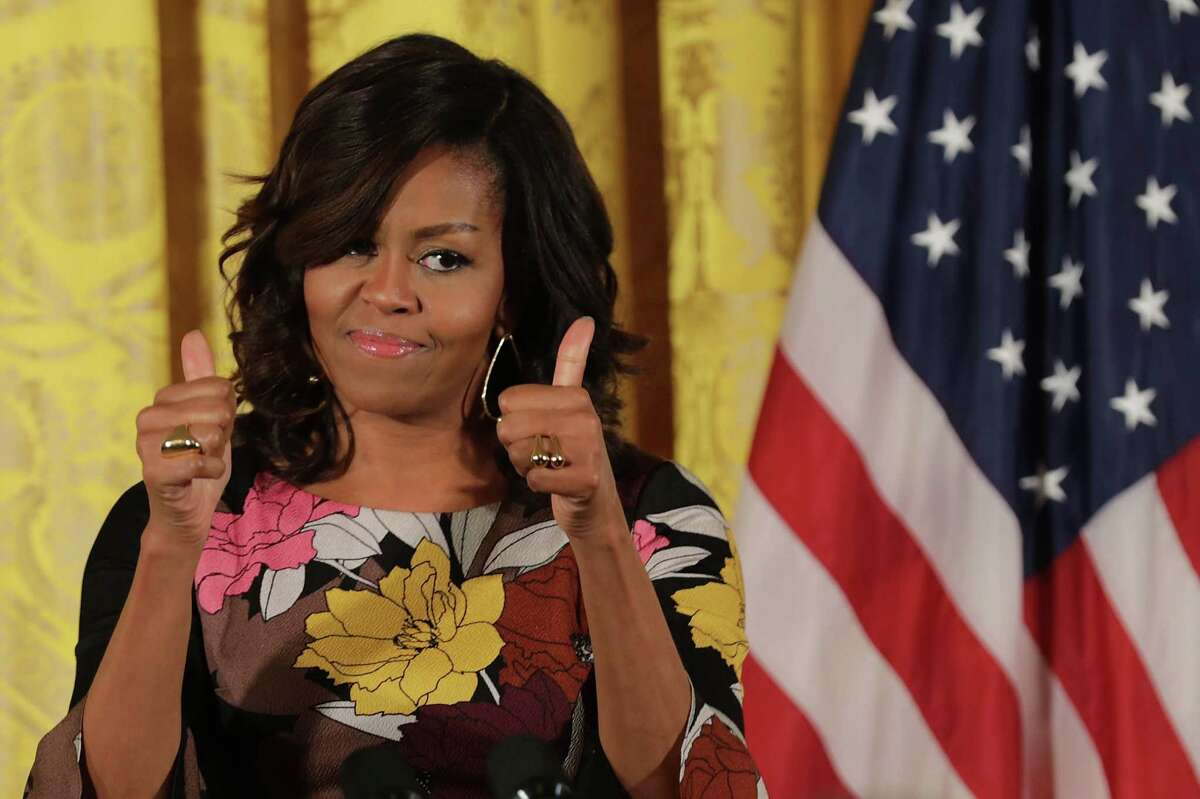 Michelle Obama In 2014, Michelle Obama canceled her plants to speak at a Kansas high school's graduation ceremony. Parents protested that the First Lady's security detail diminished the amount of seating available to parents and guests of students. Instead, Michele Obama spoke at a separate event the day before the student's graduation ceremony.
