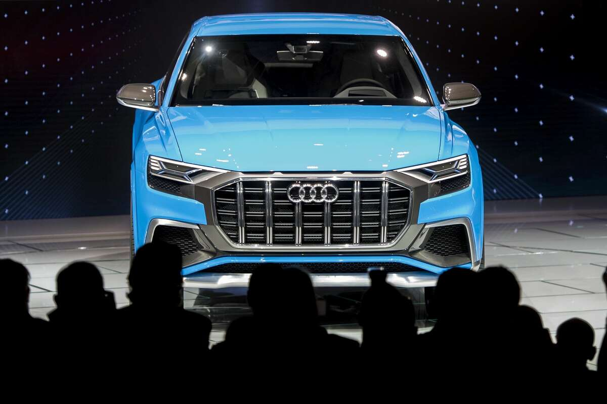 The Audi Q8 concept SUV is unveiled during the 2017 North American International Auto Show in Detroit, Michigan, January 9, 2017.
