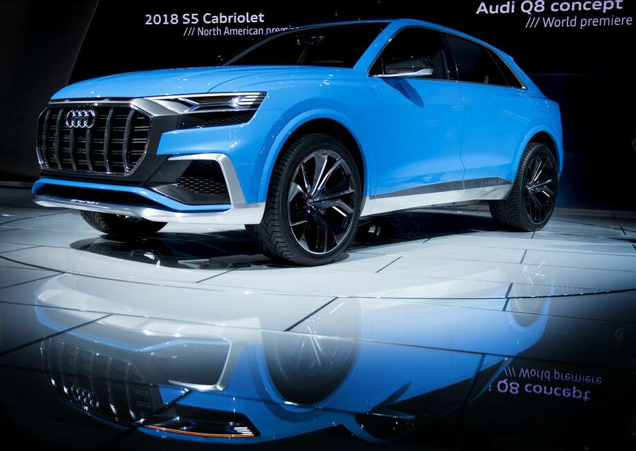 The Audi Q8 Concept Suv Is Shown During 2017 North American International Auto Show In