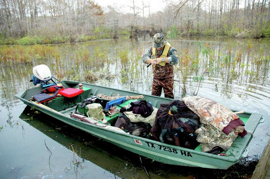 Wearing a personal flotation device — a life jacket — should be a standard safety measure taken by all waterfowlers who travel in boats. Drowning accounts for the majority of deaths of waterfowlers in wintertime boating accidents. Photo: Shannon Tompkins /Houston Chronicle
