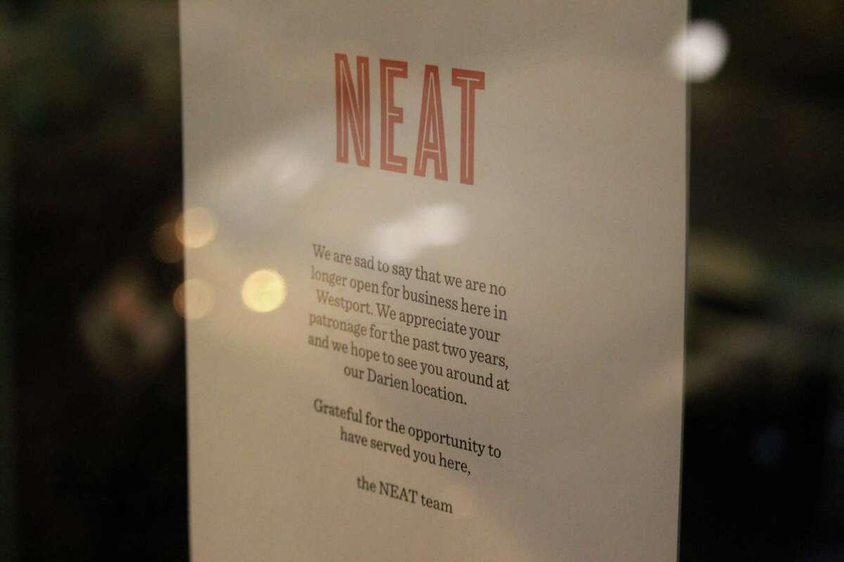 NEAT closed its Westport location on Jan. 9, 2017.