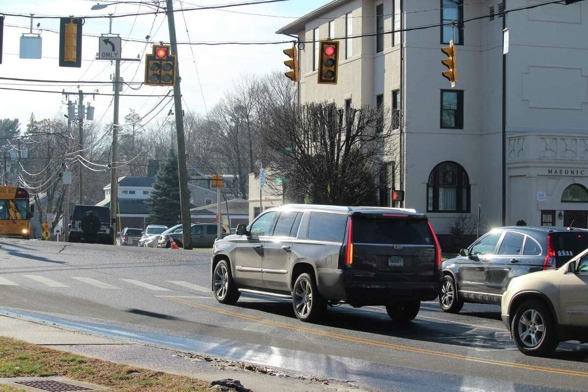 The intersection of Myrtle Avenue and Post Road East.
