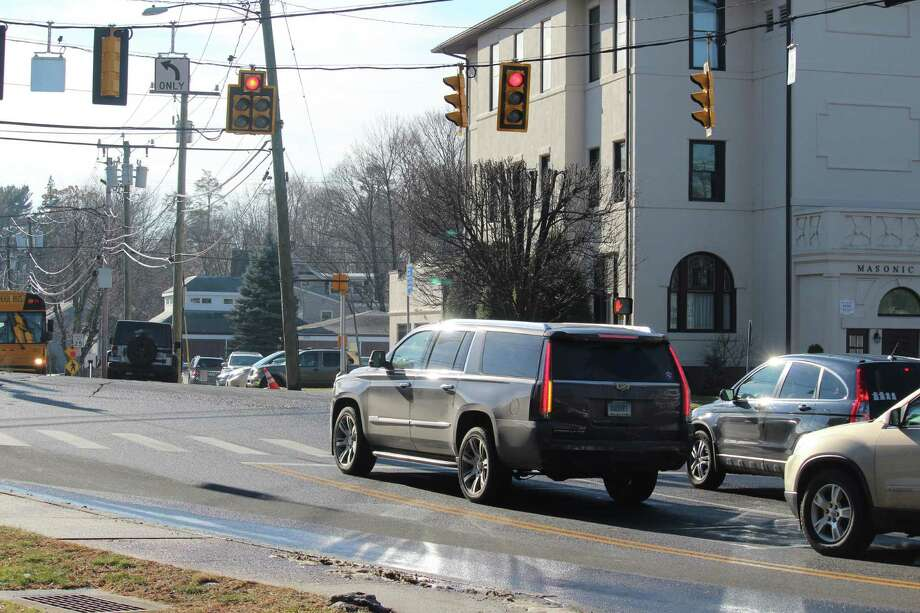 The intersection of Myrtle Avenue and Post Road East. Photo: Chris Marquette / Hearst Connecticut Media / Westport News